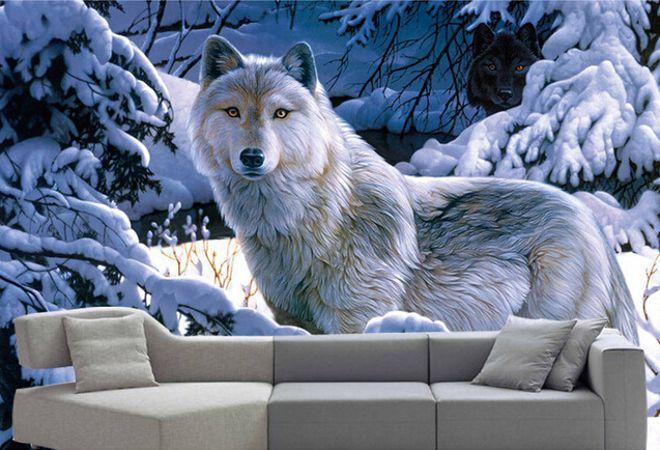 3д обои волк