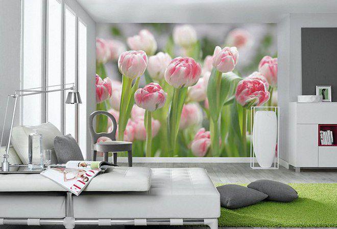 3д обои тюльпаны