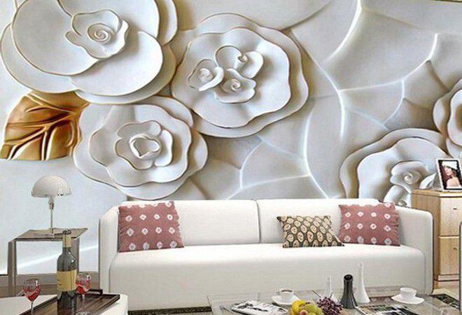 3д обои форфоровые цветы