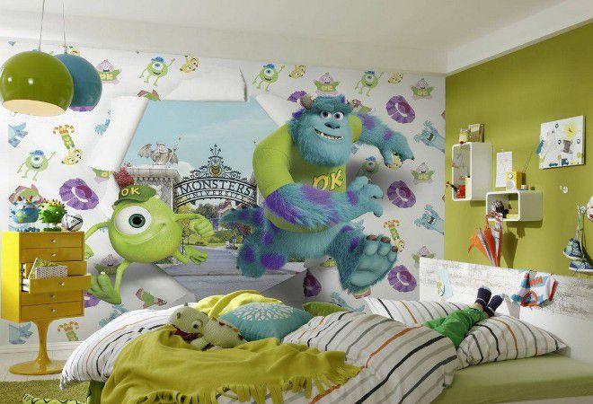 детские 3д обои для стен мультики