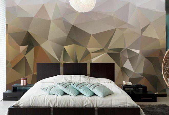 3д обои абстракция для спальни