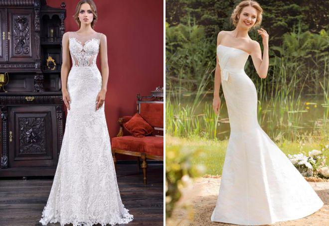 свадебные платья приталенные по фигуре