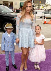 Джей Ло с детками