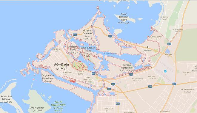 Карта Абу-Даби
