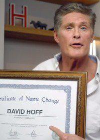 Его новое имя - Дэвид Хофф