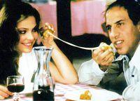 Орнелла Мути и Адриано Челентано в ресторане