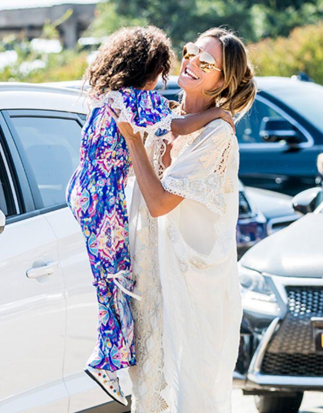 Клум со своей дочерью