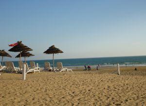 Песчаный пляж в Агадире