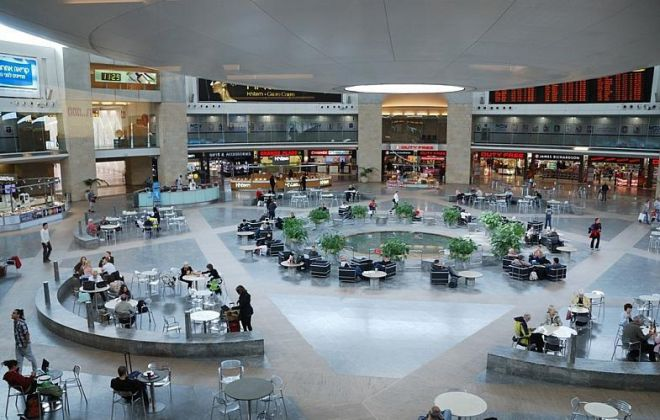 Аэропорт Бен-Гурион - внутри