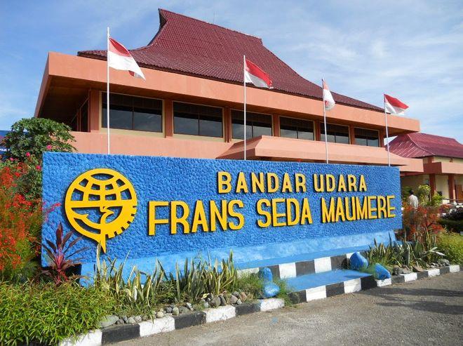 Аэропорт Маумере на острове Флорес, Индонезия