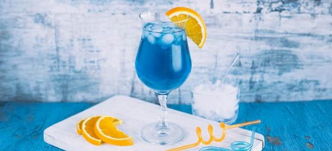 niebieski laguny koktajl