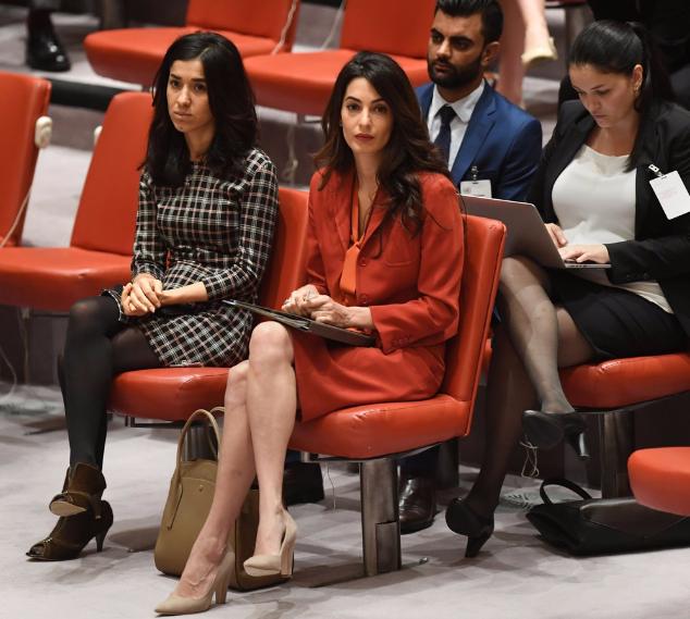 Амаль Клуни  приняла участие в заседании Совета безопасности ООН