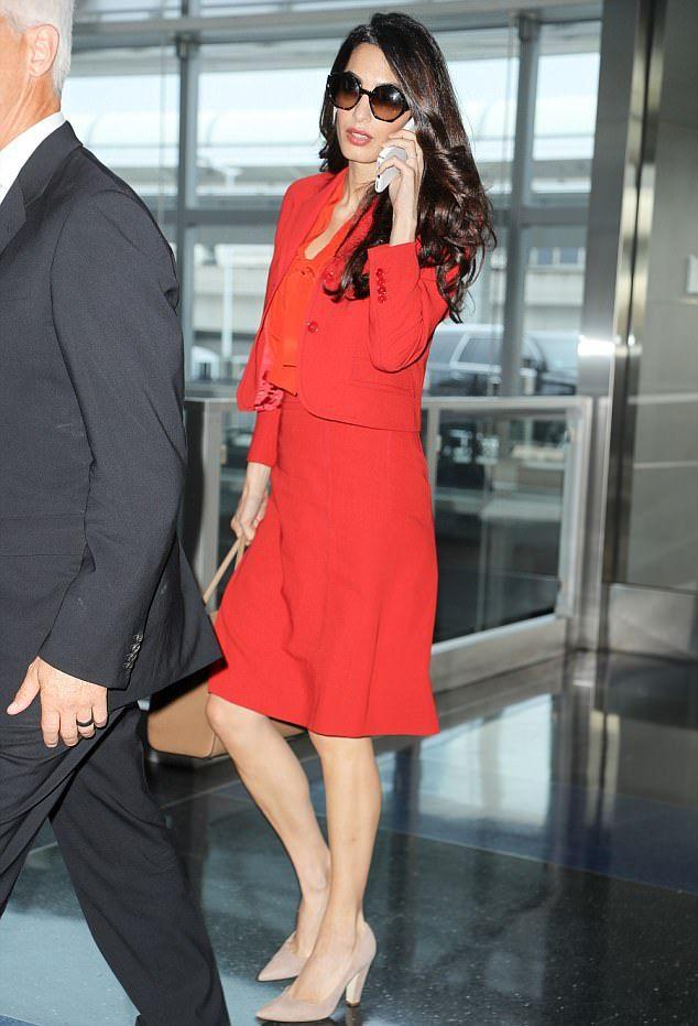 Амаль Клуни побывала в Нью-Йорке