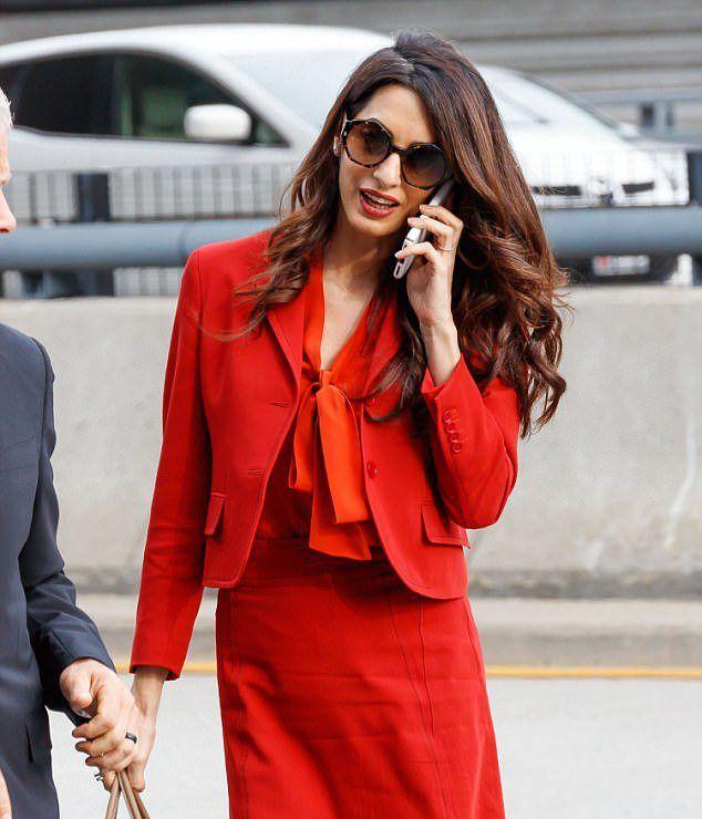 Амаль Клуни посетила Нью-Йорк