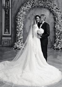 Свадебное фото Джорджа и Амаль Клуни