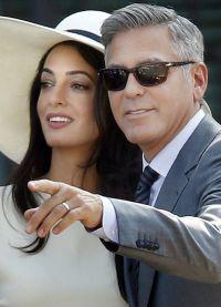 Амаль и Джордж Клуни фото из свадебного фотоальбома