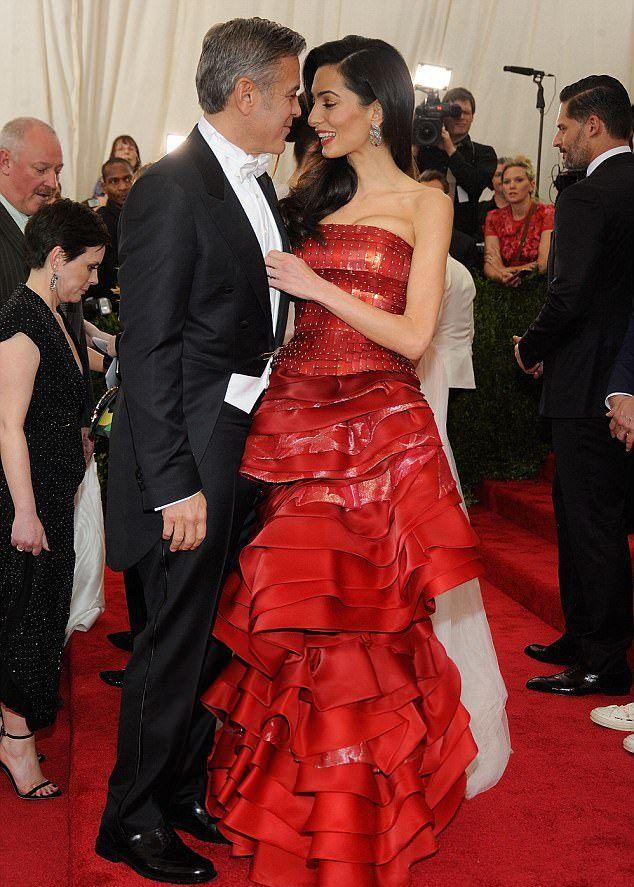 Джордж и Амаль Клуни на Met Gala