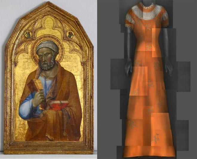 Икона святого Петра и платье Elsa Schiaparelli