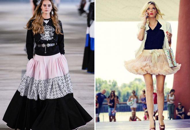 Americká načechraná sukně