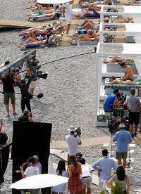 Съемки проходили на обычном пляже