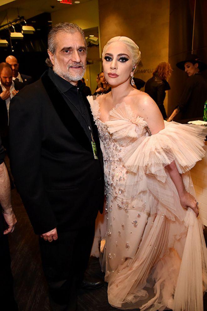 Леди Гага с отцом Джозефом Джерманотта