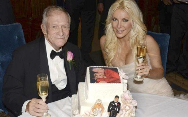 Фото со свадьбы Хью Хефнера