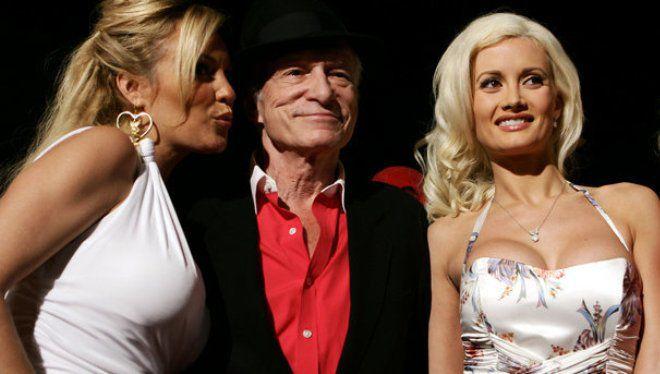 Хью Хефнер со своими девушками