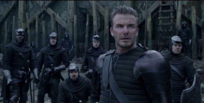 Дэвид Бекхэм вписался в роль рыцаря