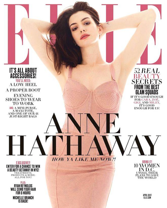 Энн Хэтэуэй в апрельском Elle