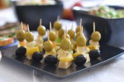 predjed na škrobih z olivami