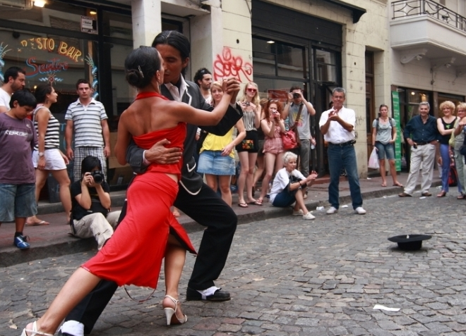 Страстный танец танго