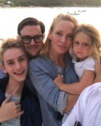 Турман с Луной и сыном Левоном  в Сен-Бартелеми этим летом