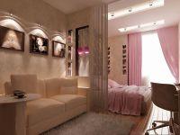 Uspořádání nábytku v jednopokojovém bytě3