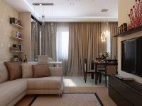 Uspořádání nábytku v jednopokojovém bytě6