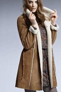 Sztuczny płaszcz z owczej skóry 5