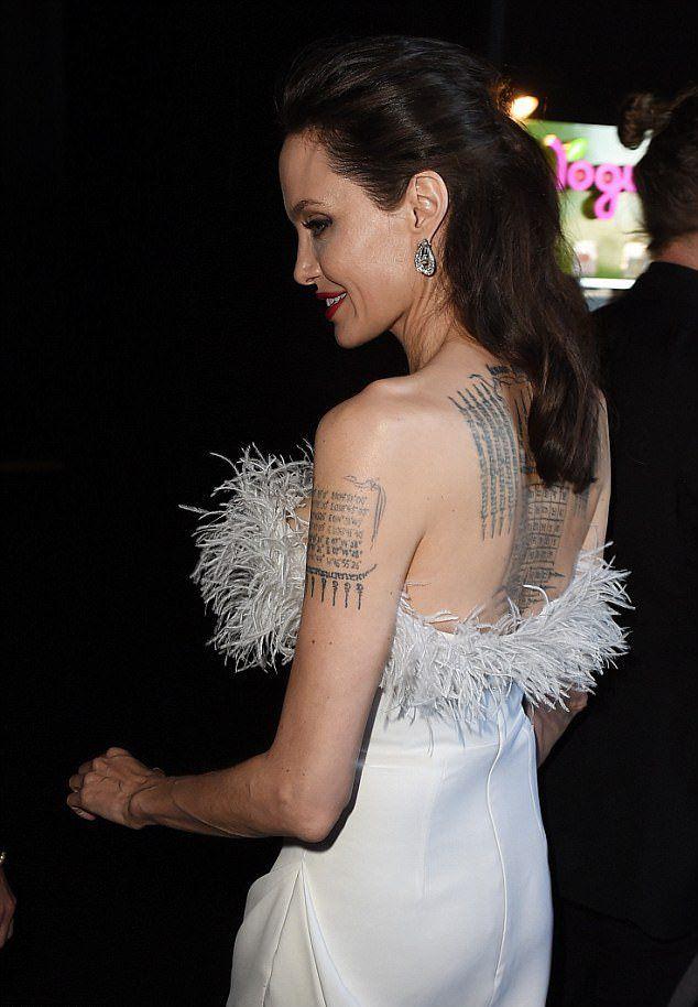 Актриса Анджелина Джоли на 23 ежегодной кинопремиии
