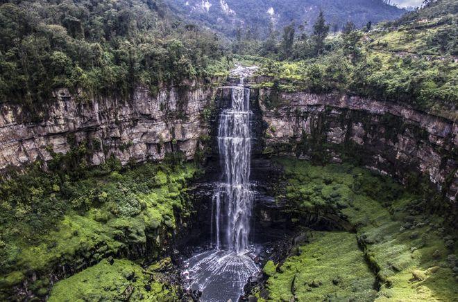 Водопад Текендама, Колумбия