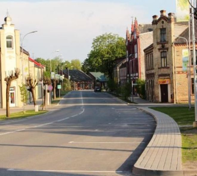 Ауце - улица в центре