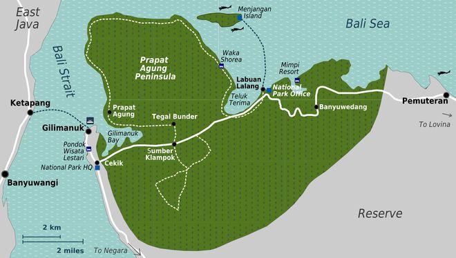 Карта парка Бали-Барат