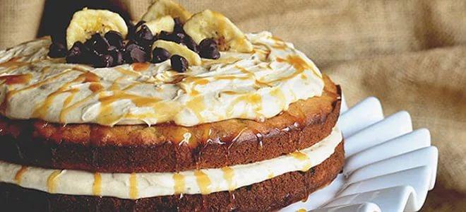 Банана крема за торту