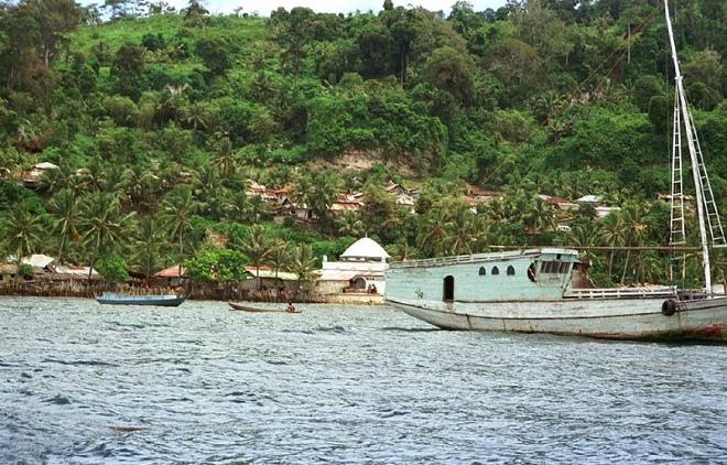 Деревня Рун на острове Рун