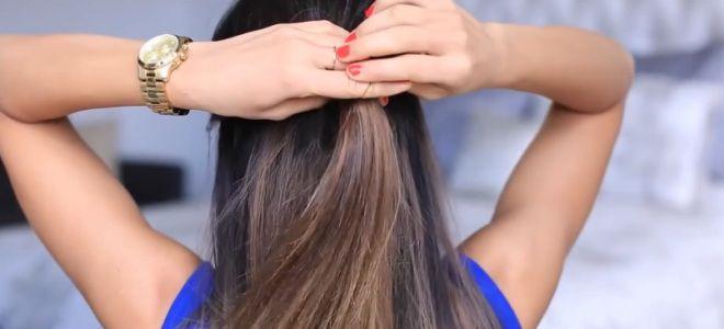как сделать бант из волос пошаговая инструкция первый