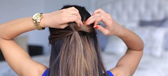 как сделать бант из волос пошаговая инструкция пятый