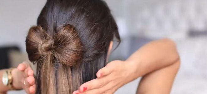 как сделать бант из волос пошаговая инструкция восьмой
