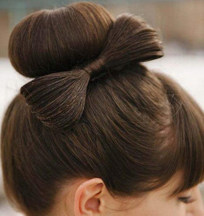 прическа бантик на короткие волосы третий