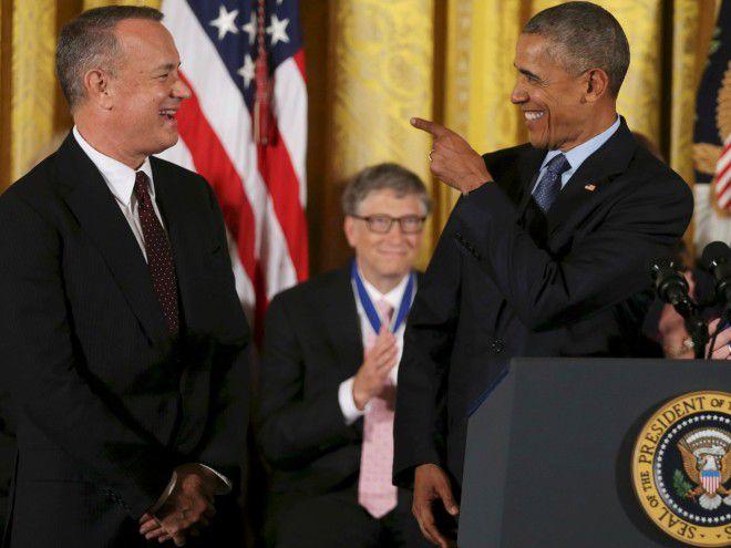 Том Хэнкс и Барак Обама