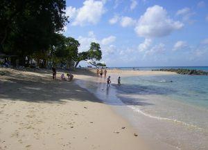 На пляже Хейвудс хорошо отдыхать с детьми