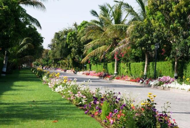 На территории отеля Al Nahda Resort & Spa Barka