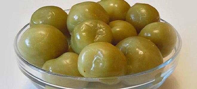 Zamašite zelene paradižnike za zimo - preprost recept
