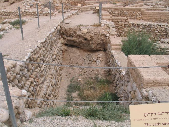 Тель-Беар-Шева - улица древнего города